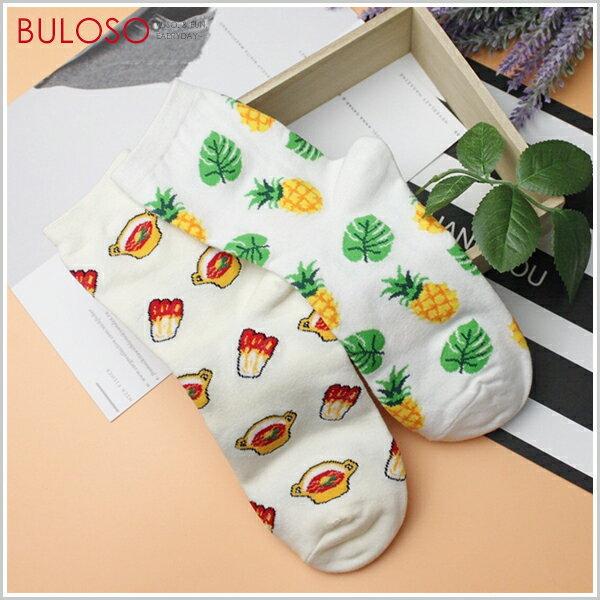 《不囉唆》食物系列造型四分襪襪子學生襪韓風中筒襪(可挑色款)【A304333】