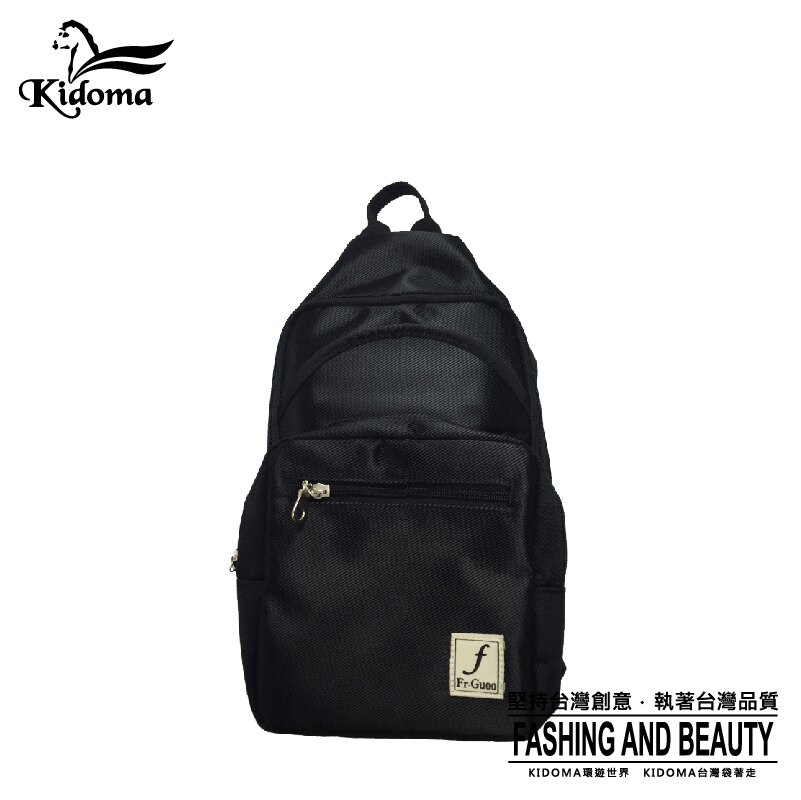 <br/><br/> Kidoma 輕便帆布後背包系列-黑 後背包 單肩包 兩用包 帆布包 台灣製造<br/><br/>