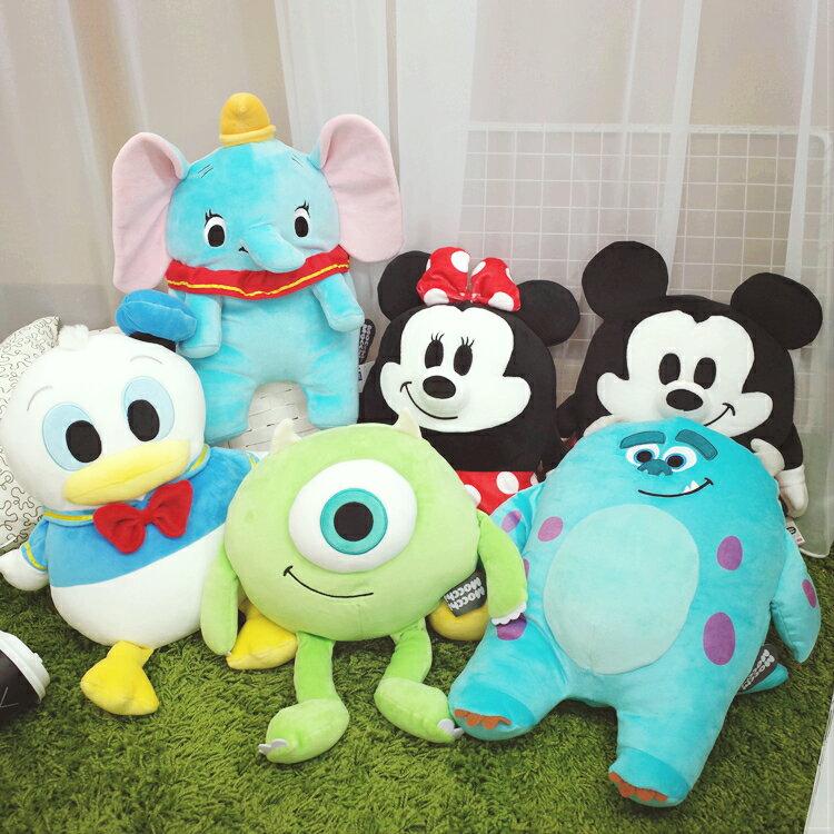 PGS7 日本迪士尼系列商品 -日本 MOCCHI 系列 娃娃 (M) 玩偶 抱枕 三眼怪 史迪奇 奇奇 蒂蒂【SJJ61131】