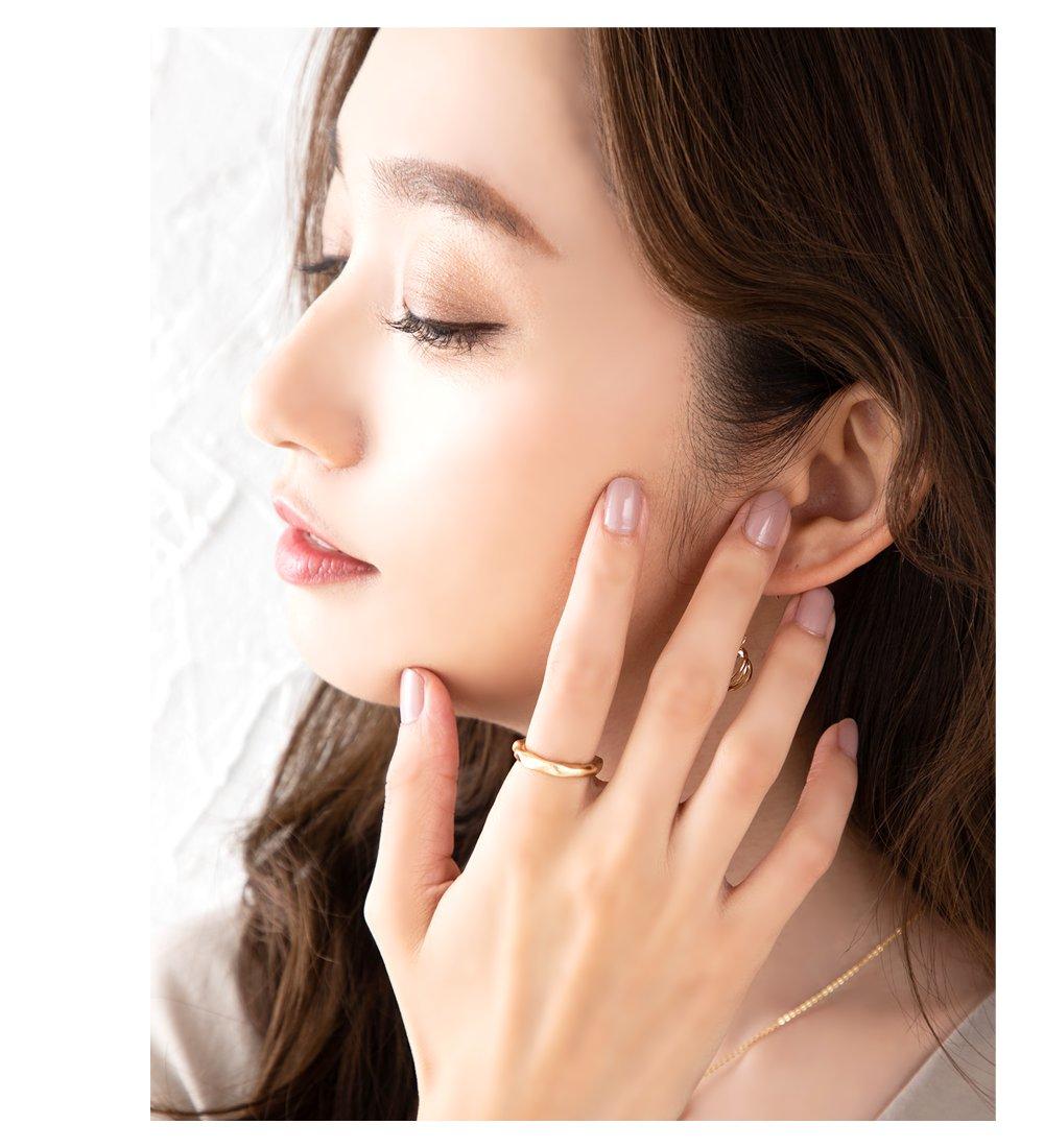 日本CREAM DOT  /  リング 指輪 金属アレルギー ニッケルフリー レディース 12号 ファッションリング クラフト調 メタル たたき加工 大人カジュアル シンプル 可愛い ゴールド シルバー  /  d00080  /  日本必買 日本樂天直送(790) 5
