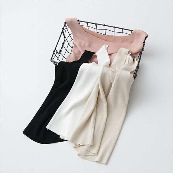 PSMall純色背心無袖針織吊帶上衣【T466】