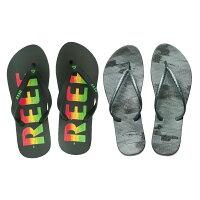 【第二雙$100】REEF 字樣基本款橡膠 舒適好穿防滑耐磨 男款夾腳人字拖鞋 . 多彩字 RF0A2YFTRBK-REEF-潮流男裝