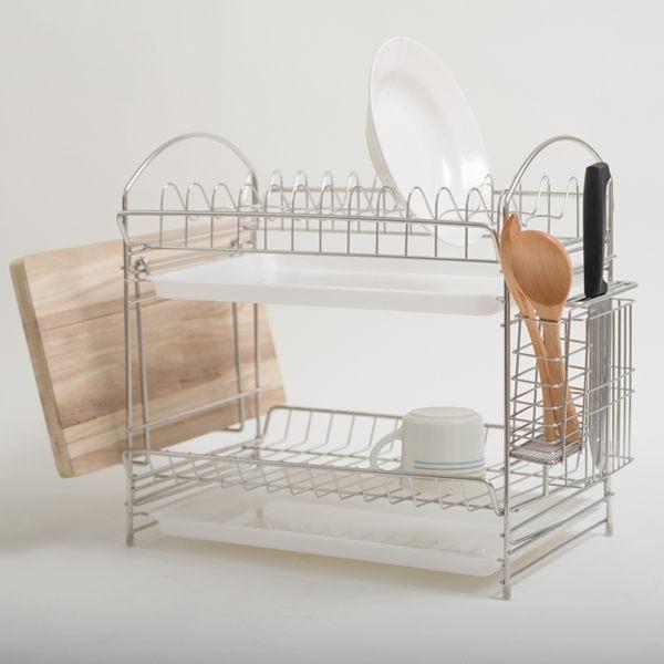 不鏽鋼組合式多功能碗盤架 MIT台灣製 完美主義 瀝水架 餐具碗盤架【D0045】