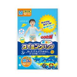 [現貨供應]大王GOO.N 戲水專用 紙尿褲(游泳尿布)3入-男生用 M 129元
