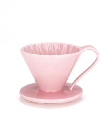 金時代書香咖啡 CAFEC Flower Dripper 花瓣濾杯 2-4人 粉色 CFD-02-PI