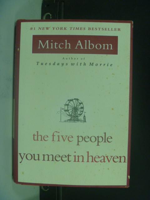 ~書寶 書T8/原文小說_HHD~The Five People You Meet in