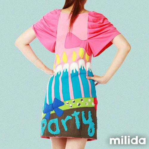 【Milida,全店七折免運】甜美公主袖超顯瘦洋裝 1