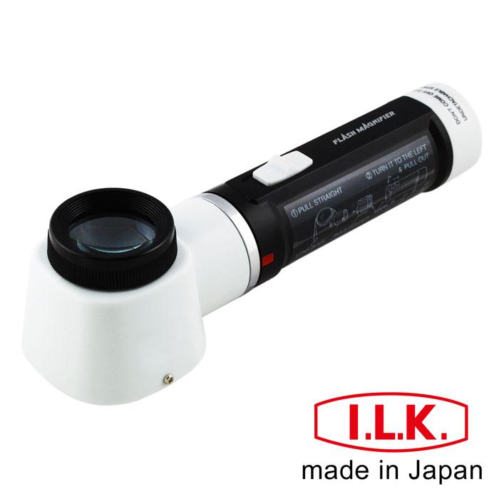 量測 雙刻度 品管必備 【日本I.L.K.】10x/30mm 日本製LED工作用量測型立式放大鏡 #M-100