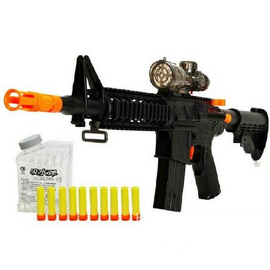 【888便利購】M16兒童仿真吸水子彈步槍(超長25米射程)(100%環保吸水子彈)