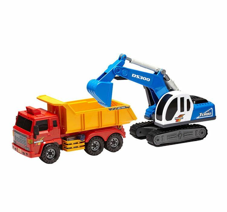 【888便利購】韓國進口砂石大卡車+大怪手(ST玩具百貨公司貨品質保證)
