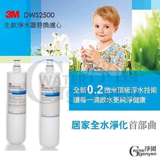 [淨園] 3M 智慧型淨水系統DWS2500替換濾芯(一組2支)