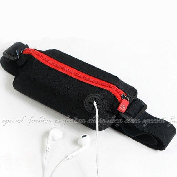 運動腰包-單袋 防水彈性隱形腰包 彈力腰包 慢跑隱形手機包 臂套 腕套【DK363】◎123便利屋◎