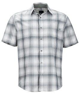【Marmot土撥鼠美國】Notus短袖襯衫快乾透氣戶外襯衫格子襯衫灰色男款/53000