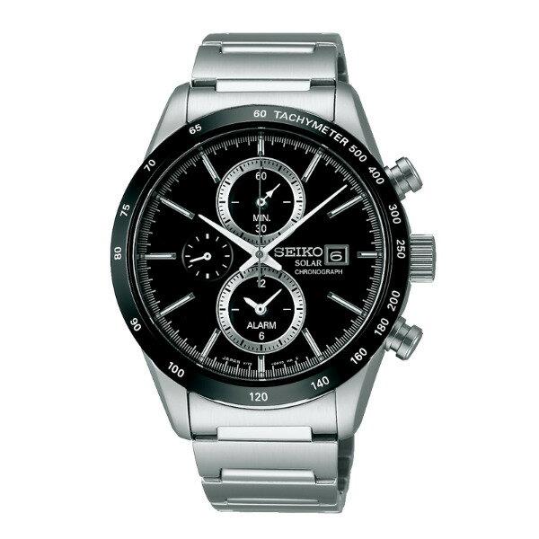 Seiko Spirit V172-0AP0A(SBPY119J)休閒太陽能計時腕錶/黑面41mm