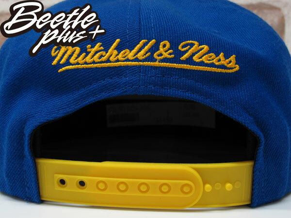 BEETLE PLUS MITCHELL&NESS NBA WARRIORS 美國職籃 金州 勇士 文字 CURRY 柯瑞 藍黃 SNAPBACK 帽 舊金山 LOGO 後扣 棒球帽 MN-306 2