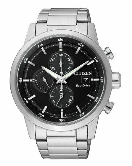 清水鐘錶 Citizen 星辰 Eco-Drive 光動能 急速豪傑時尚優質腕錶 黑面 CA0610-52E 43mm