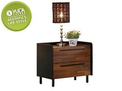 床頭櫃【YUDA】畢卡索 雙色  二抽 床頭櫃/床邊櫃/小矮櫃 J8F 025-1