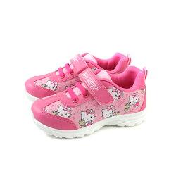 Hello Kitty 凱蒂貓 運動鞋 魔鬼氈 桃紅 中童 童鞋 719812 no788