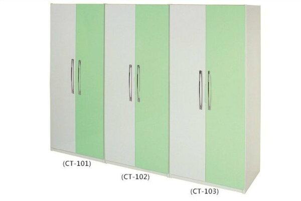 【石川家居】818-03(綠白色)衣櫥(CT-103)(圖右)#訂製預購款式#環保塑鋼P無毒防霉易清潔