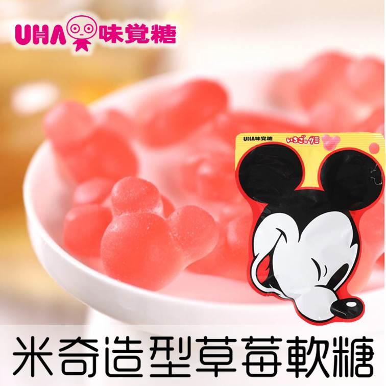 【UHA味覺】Disney米奇造型草莓軟糖 30g ディズニーグミ 日本進口糖果 3.18-4 / 7店休 暫停出貨 0