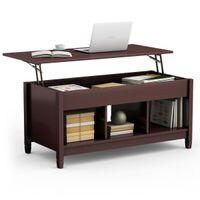 Deals on Costway Lift Top Coffee Table w/Storage Lower Shelf