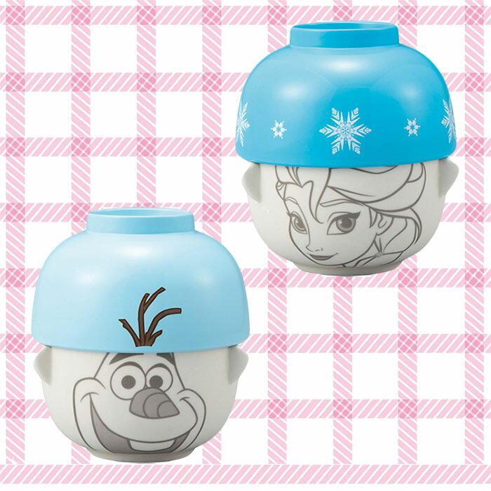 冰雪奇緣 Frozen 迪士尼 艾莎 雪寶Olaf 陶瓷湯碗茶碗組 味增湯 飯碗 日本進口正版 233664