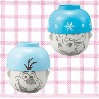 大田倉 日本進口正版商品 冰雪奇緣 Frozen 迪士尼 艾莎 雪寶Olaf 陶瓷湯碗茶碗組 味增湯 飯碗 233664