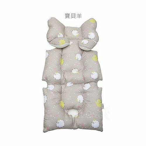 韓國Aribebe 結合頸枕 推車襯墊 3D雙面全身包覆墊(厚)一般棉-寶貝羊款★愛兒麗婦幼用品★