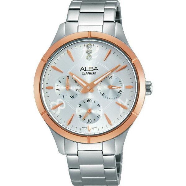ALBA VD75-X093KS(AP6446X1)雙色玫瑰金時尚腕錶/白面36mm