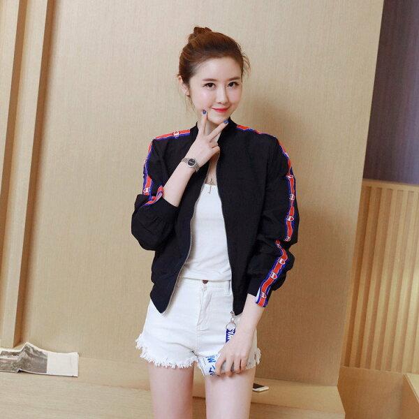 FINDSENSE服飾:FINDSENSEG5韓國時尚春季夏季夾克百搭薄款防曬衣開衫條紋外套