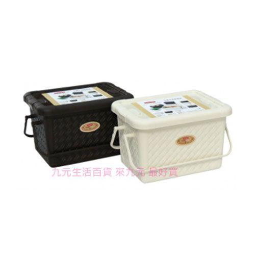 【九元生活百貨】聯府 JK-529 竹籐手提整理箱-中 置物 收納 JK529
