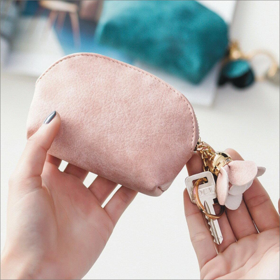 甜心小舖~花朵零錢包可掛鑰匙~ 背包 書包 旅行包 休閒包 包包 側背