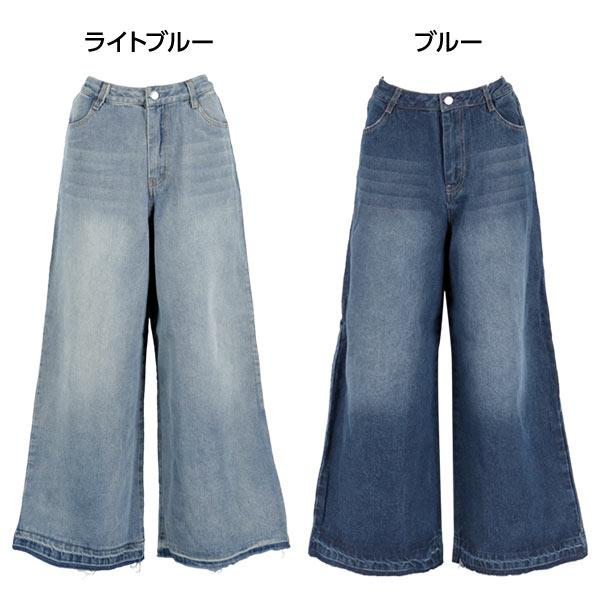 日本Kobe lettuce / 寬版牛仔長褲 / 日本必買 日本樂天代購 / mobacaba-m2405 (1287)。滿額免運 1