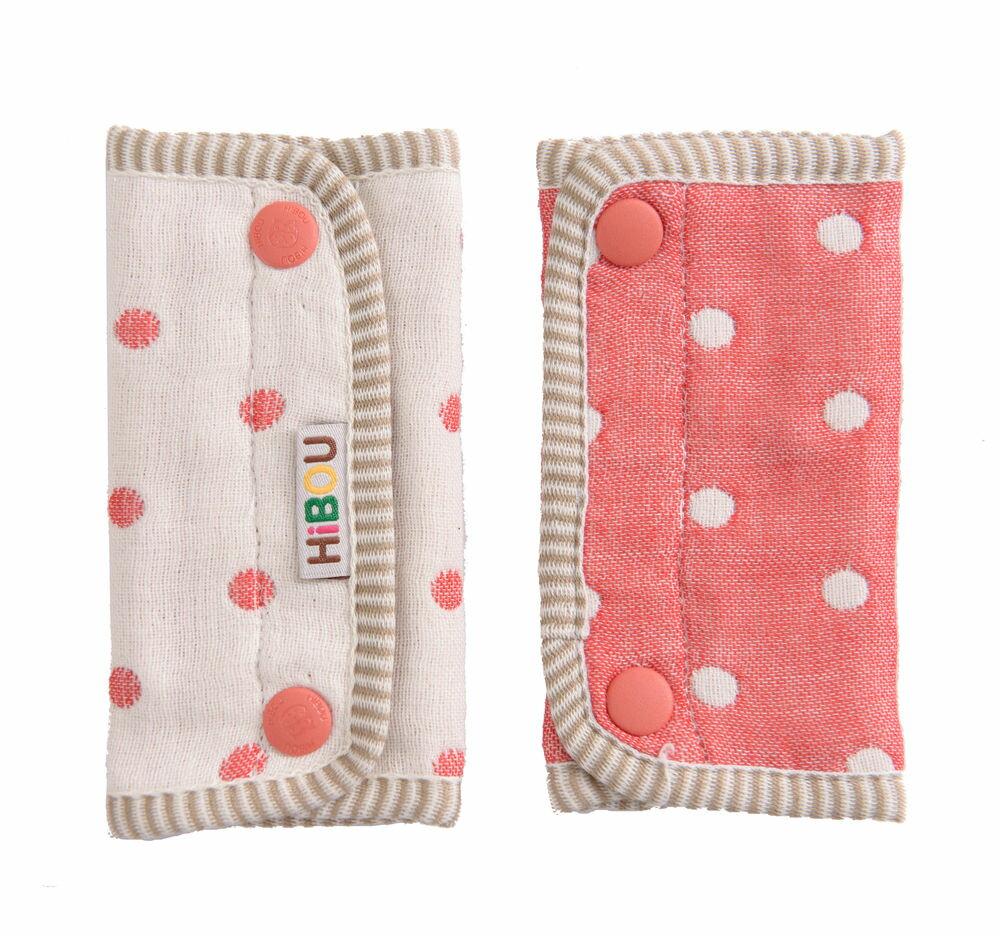 HiBOU-六重紗-背帶防污口水巾(耀眼紅)