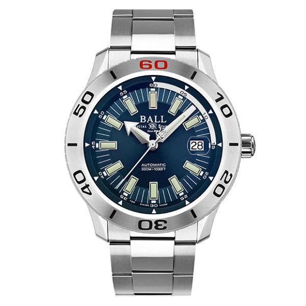 大高雄鐘錶城:BALL波爾錶DM3090A-S3J-BEFireman專業潛水腕錶深藍面42mm