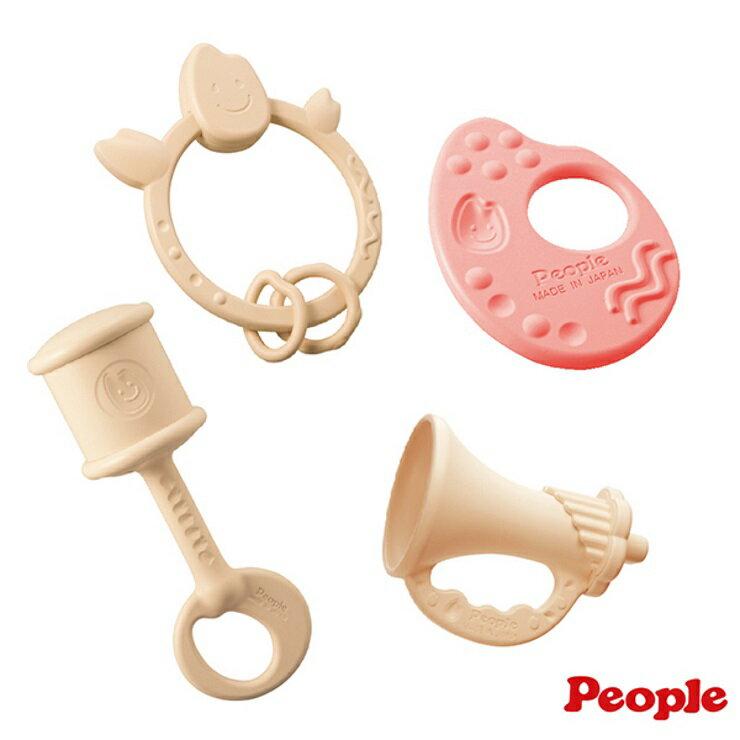 【寶貝樂園】PEOPLE米的玩具紅白4件組合(季節限定)
