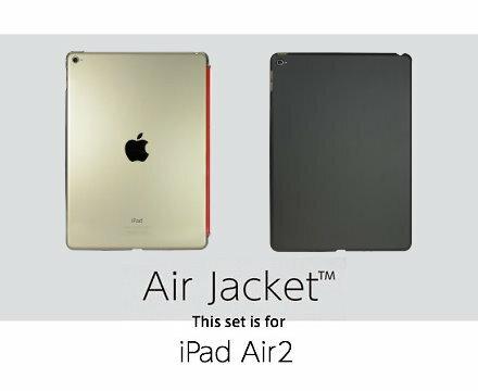 POWER SUPPORT iPad Air 2 專用 Air Jacket 保護殼  透明/純黑