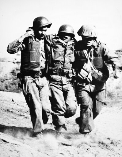 Korean War Pork Chop Hill Nan American Soldier Wounded At The Battle Of Pork Chop Hill In 1953 Receives Assistance From Two Comrades Poster Print by (18 x 24) 8df6070d4805374a1470bb1435710709