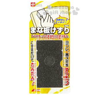 〔小禮堂〕LEC 日製砧板去汙海綿《灰.泡殼紙卡》