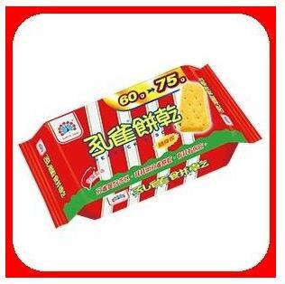 孔雀餅乾原味隨手包75g*12包箱【合迷雅好物商城】