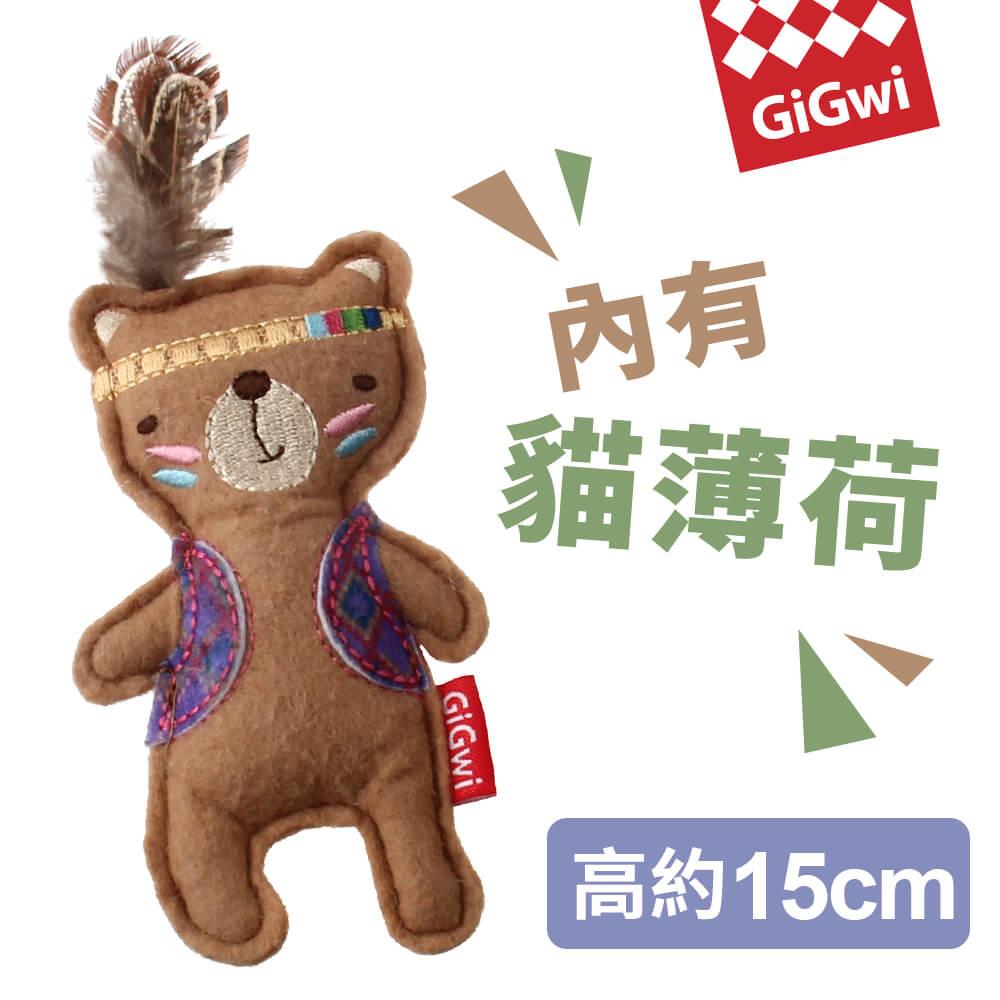 GiGwi就是愛貓草-印地安羽毛小熊