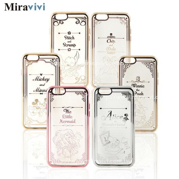 Disney迪士尼iPhone66S(4.7吋)時尚質感電鍍保護套-畫框系列