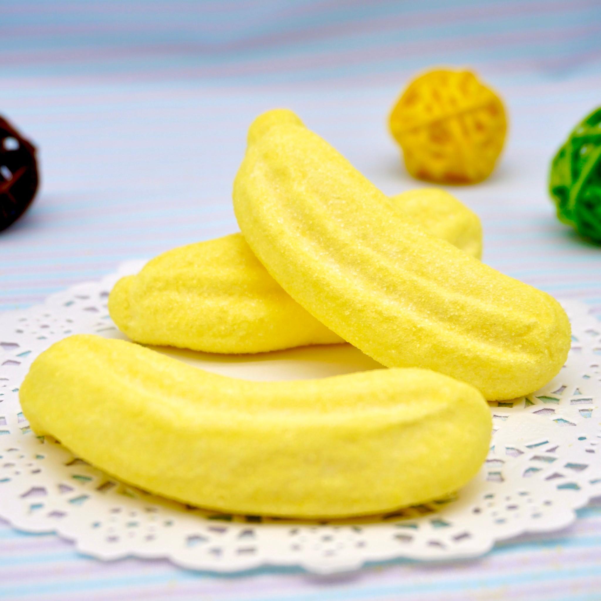嘴甜甜 寶格麗香蕉棉花糖 200公克 棉花糖系列 芭娜娜 黃色香蕉 棉花糖 義大利 寶格麗 香蕉 草莓 香菇 小花 冰淇淋 現貨