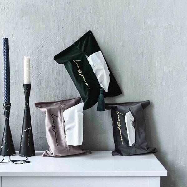 客廳 辦公室 車用 北歐天鵝絨衛生紙袋/面紙套 裝飾 北歐風|原本生活|