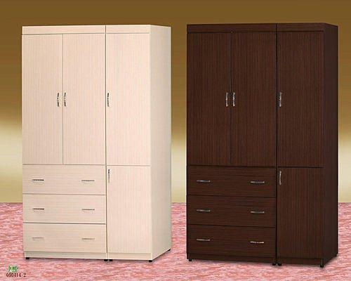 【 尚品傢俱】685-08 胡桃/白橡 4x7 衣櫥/衣櫃/收納櫃/櫥櫃~另有3*6、3*7、4*6