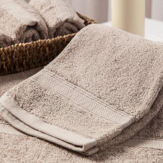 【MORINO摩力諾】美國棉素色緞條浴巾-灰色