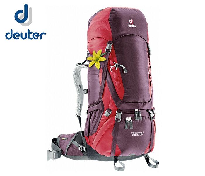 【露營趣】中和 Deuter 3320416 Aircontact 60+10SL拔熱式透氣背包 登山背包 自助旅行背包