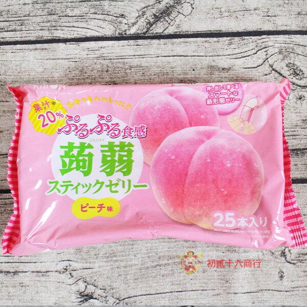 【0216零食會社】日本零食立夢_(水蜜桃味葡萄味)蒟蒻果凍條375g