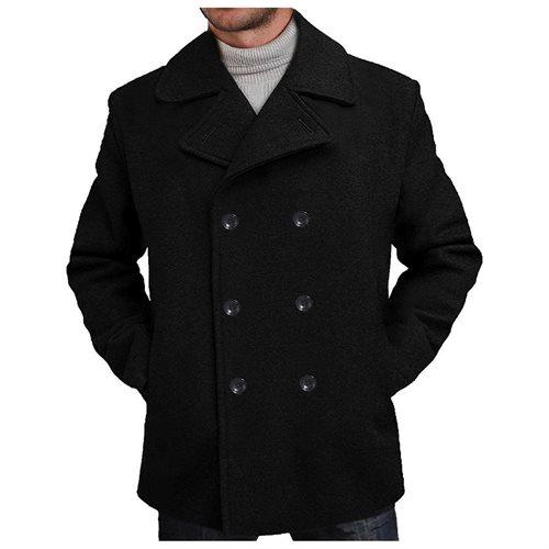 d3dd8c47857 Luxury Lane  BGSD Men s  Mark  Wool Blend Pea Coat