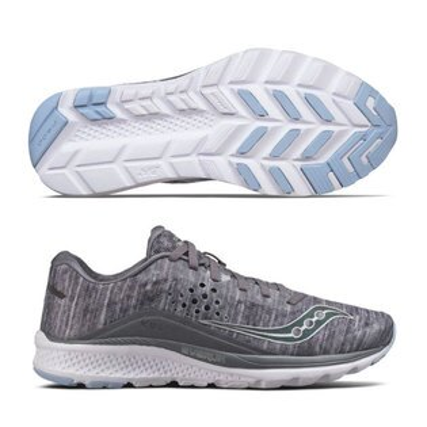 SAUCONY女馬拉松鞋KINVARA8(灰*炫光)緩衝型訓練鞋【胖媛的店】S10356-20